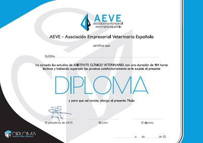 diploma AEVE ATV Torrent Clinica veterinaria Roig